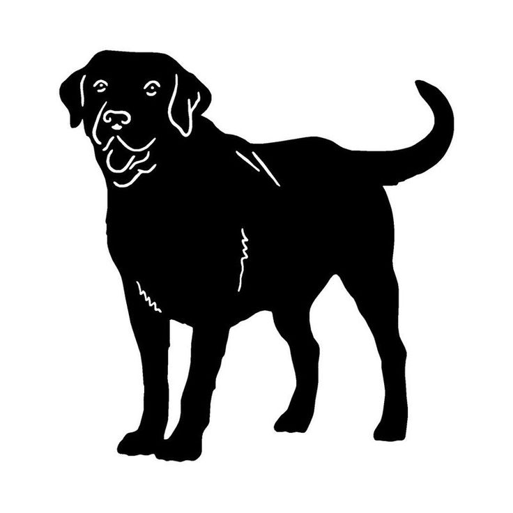 73 best silhouetten images on pinterest shadow pictures rh pinterest com black lab puppy clipart Black Lab Cartoon Clip Art