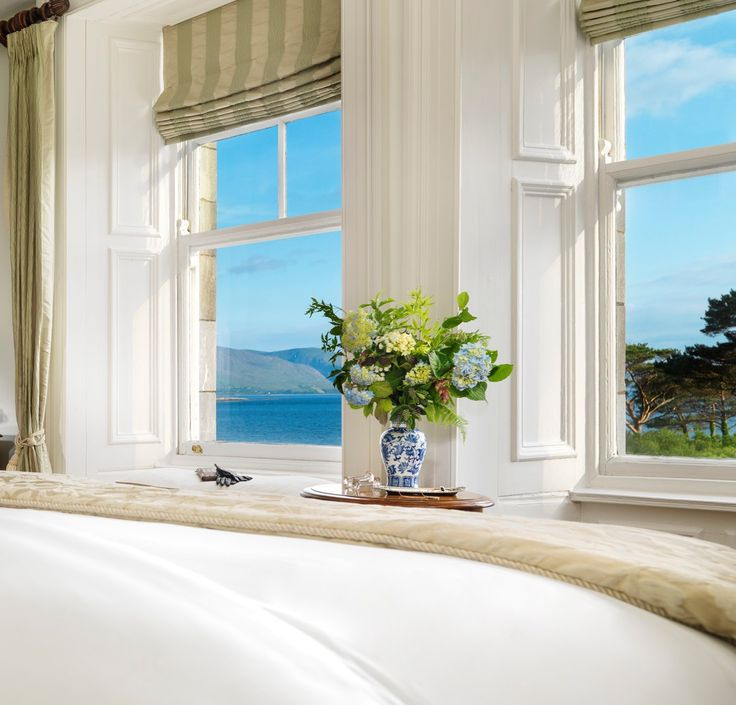 Beautiful blue skies, calm waters and rugged mountains.....not a bad view from Parknasilla Resort & Spa, Sneem, Co. Kerry