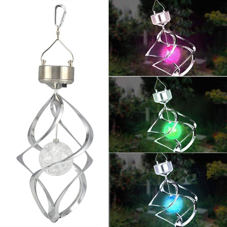 solar powered spiral wind spinner with colour changing led light in home u0026 garden yard garden u0026 outdoor living outdoor lighting other outdoor lighting