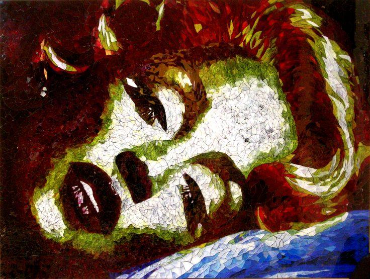 101 x 134 cm.Mosaico Marilyn Monrroe