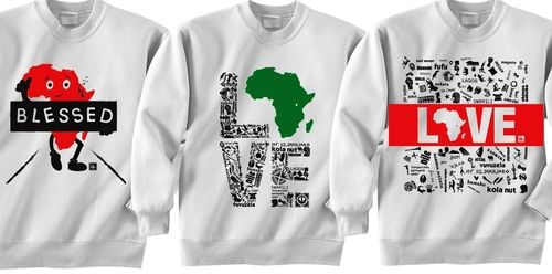 Gift Guide Item #11: Afrocentric sweatshirts celebrating the various aspects of the cultures of the continent, available at Blessed Collections.