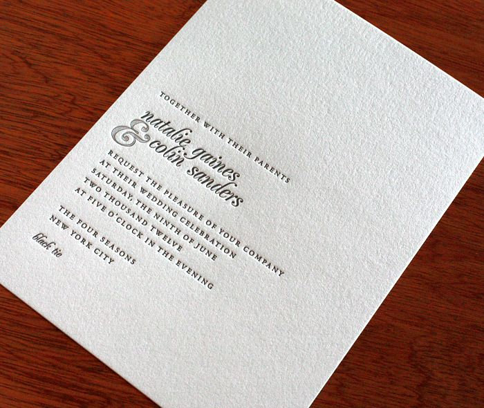 Our modern #wedding #invitation, Natalie, in a soft grey color.  | Invitations by Ajalon | http://invitationsbyajalon.com/
