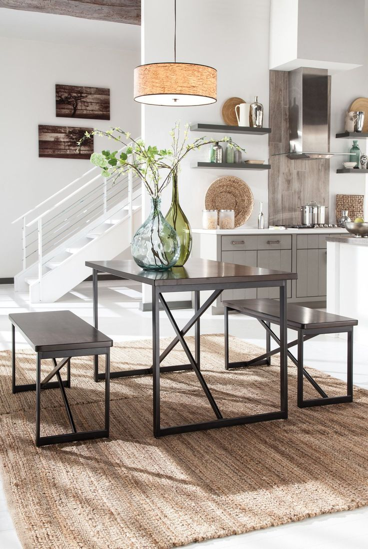 Savor The Flavor Of Minimalist Chic Style This Table Set Sets A High Standard For Lean Linear Design Loaded With Urban Flair