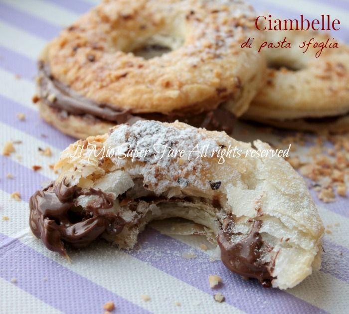 super easy puff pastry bagels with nutella  (ciambelle di pasta sfoglia alla nutella)