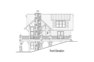 Craftsman Cottage With Rustic Detailing - 26709GG thumb - 02