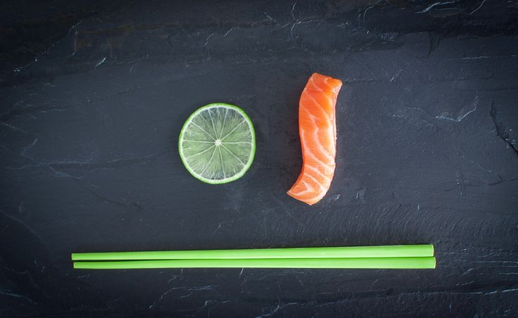 Fresh lime & salmon