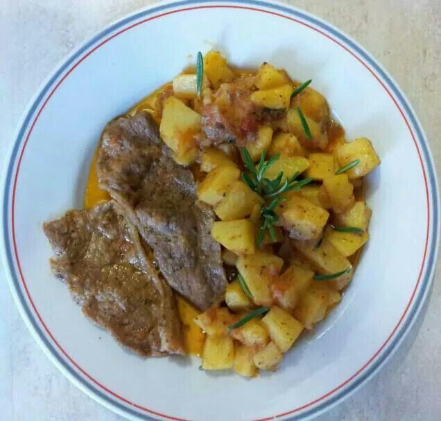 patate e carne di vitello