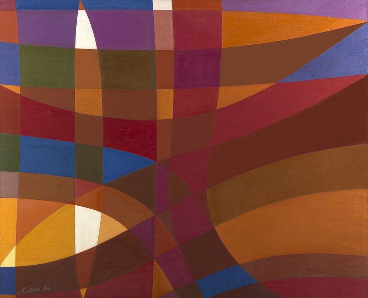Roches sur le Bord de Mer by Othello Radou Oil on canvas: 130 x 160 cm Signed and Dated 1983-84