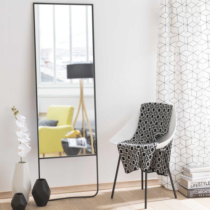 Spiegel  mit schwarzem Metallrahmen H160   Maisons du Monde