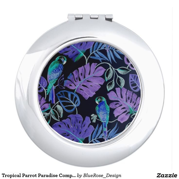 Tropical Parrot Paradise Compact Mirror