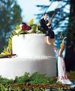 Svatební figurka na dort Lovec, Svatební dekorace, Svatební figurky na dort, Svatební figurky, stojany a ozdoby na dorty -