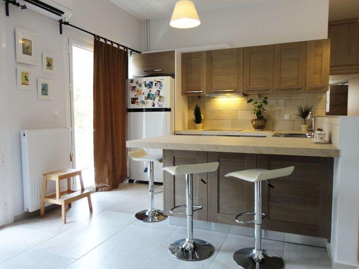 Ανακαίνιση Κατοικίας στην Ηλιούπολη.Άποψη της κουζίνας.