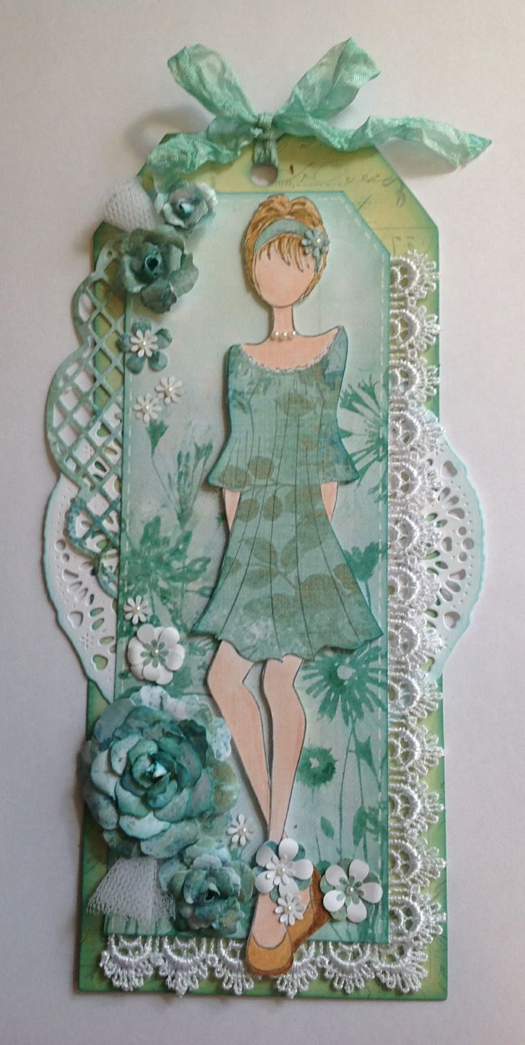 Mixed Media Doll Stamp by Julie Nutting. Inspiration for this card was from Jenny Garlick at Creative Mahem. Thanks Jenny, didn't have a clue what to do with this stamp!