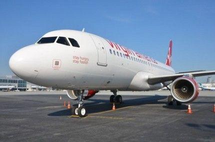 MacRumorsによると、アメリカの航空会社であるVirgin Americaが、自社のエアバスA320に故スティーブ・ジョブズ氏の名言でもある「Stay hungry,stay foolish.(ハングリーであり続けろ、バカであり続けろ)」というフレーズをプリントしているそうです。