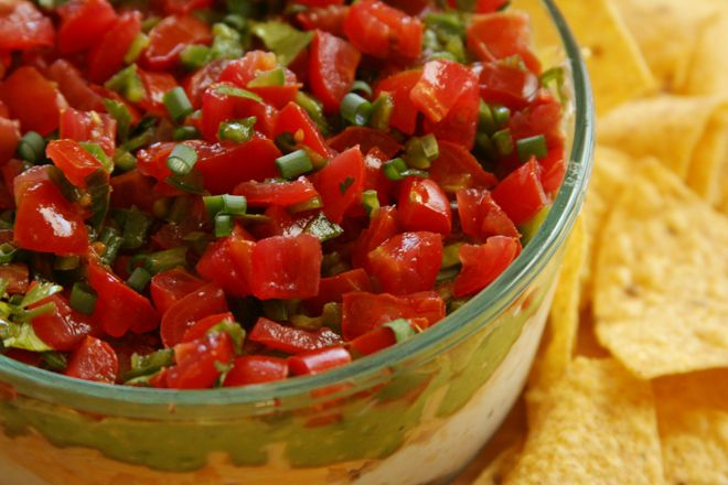 seven layer dip | Dips, Salsas and Sauces | Pinterest