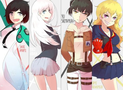 RWBY Japanese Voice Cast by husk57