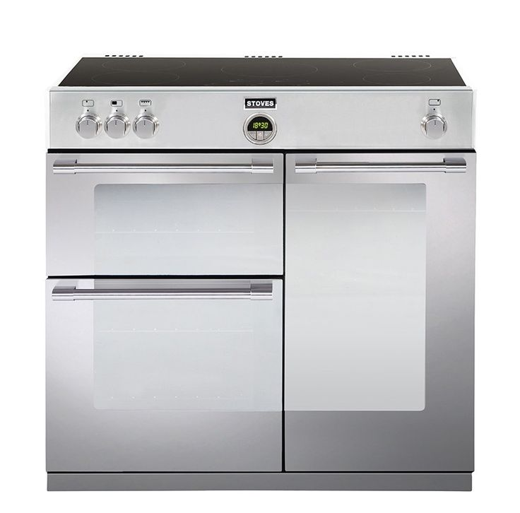 stoves sterling 900ei stainless steel 90 induction range cooker