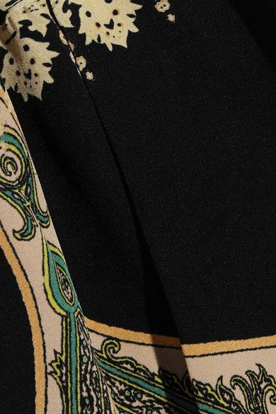 Etro - Paisley-print Silk Crepe De Chine Pants - Black - IT38