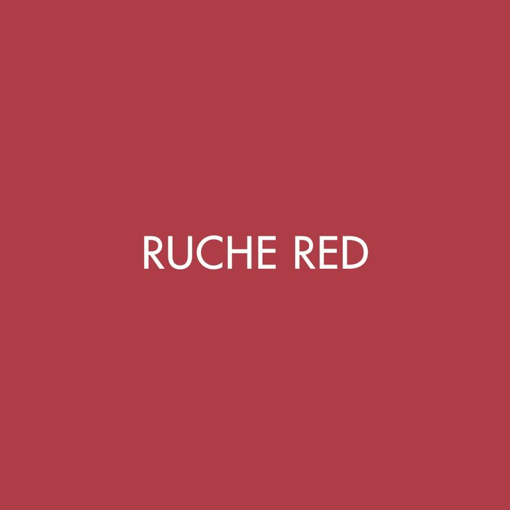Ruche Red | Our new season SS18 hue from the Precision/Fluidity collection #SS18