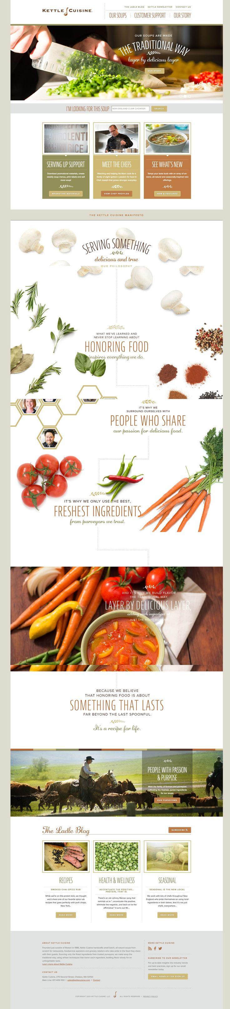 Kettle Cuisine - neat layout with attractive visuals