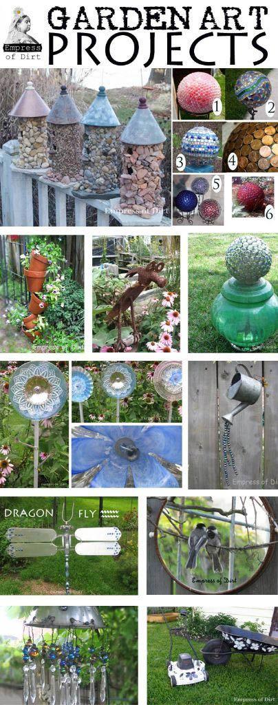 Best garden art projects - with free instructions at www.empressofdirt.net
