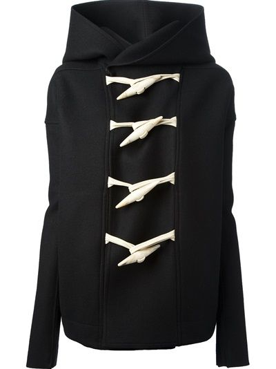 rick owens hooded toggle - $3800.00 (!) I'm pretty sure I can pay someone to craft something similar
