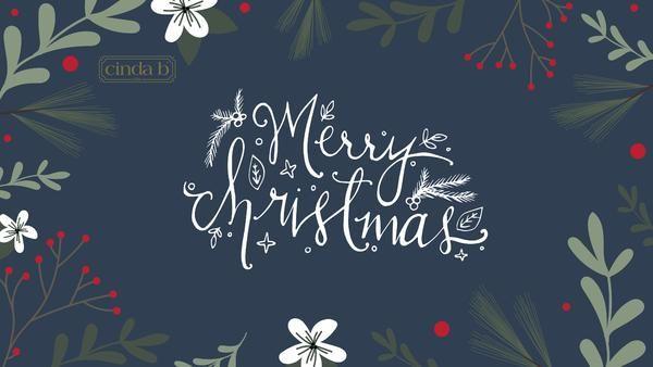 Merry Christmas From Cinda B Christmas Desktop Wallpaper Christmas Desktop Wallpaper Iphone Christmas