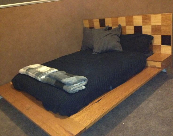 Victorian Ash and veneer (wenge, vic ash and QLD Cherry) Queen size bed.