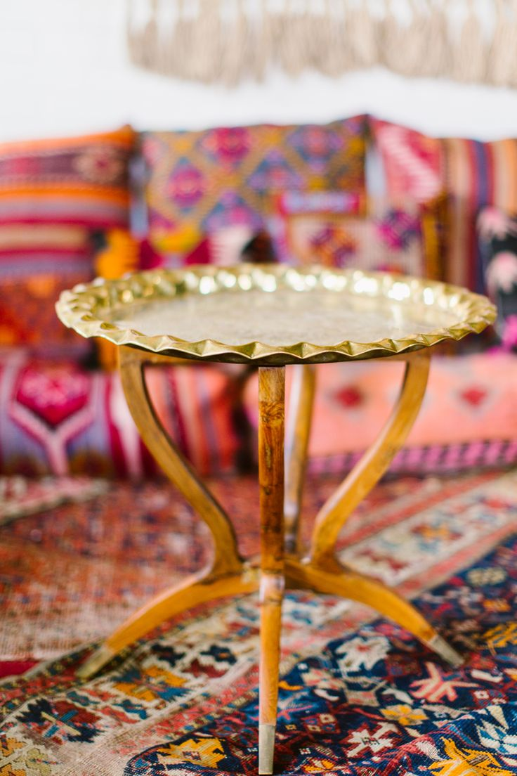 Maggpie Rentals, Philadelphia Styled Shoot, Bohemian Rentals, Brass  Moroccan Table, Macrame,