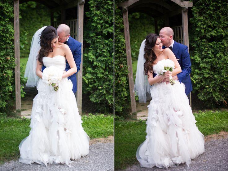 St. Andrew's College bride and groom romantic