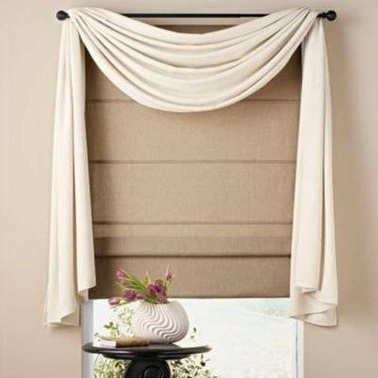 Home Design and Decor , Pretty Window Scarf Ideas : White ...