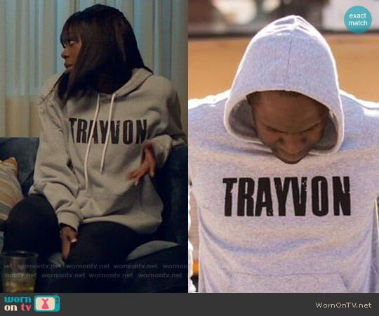 Molly's TRAYVON hoodie on Insecure.  Outfit Details: https://wornontv.net/78140/ #Insecure