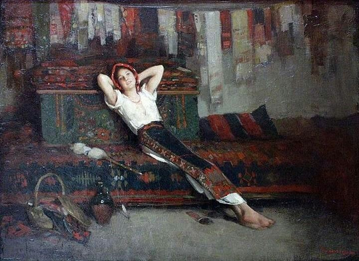 Nicolae Grigorescu, Girl with her dowry