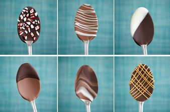Chocolate dipped spoons: They're an easy way to stir more flavor into hot drinks, and you don't even have to turn on the oven or stove top to make them. Start by dipping metal or plastic spoons in your favorite chocolate, then decorate with sprinkles, drizzles and more. Great gift. Pick up some metal spoons at the next yard sale.