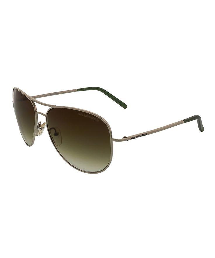 KARL LAGERFELD Kl225/S 510 Silver Aviator Sunglasses'. #karllagerfeld #sunglasses