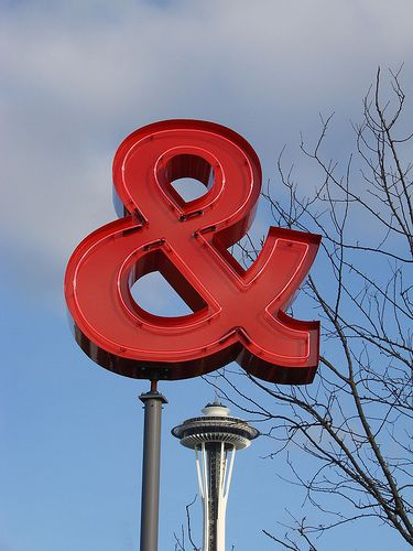 ampersand signSpaces Needle, Seattle, Neon Signs, Signage, Old Signs, Retro Signs, Letters, Design, Ampersand