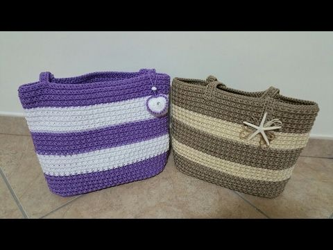 Borsa Iris /borsa uncinetto/crochet bag - YouTube