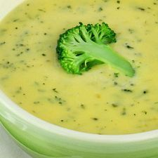 Quick, Low Fat Broccoli Soup | MyDailyMoment | Broccoli, onion, chicken stock, corn starch and evaporated milk.