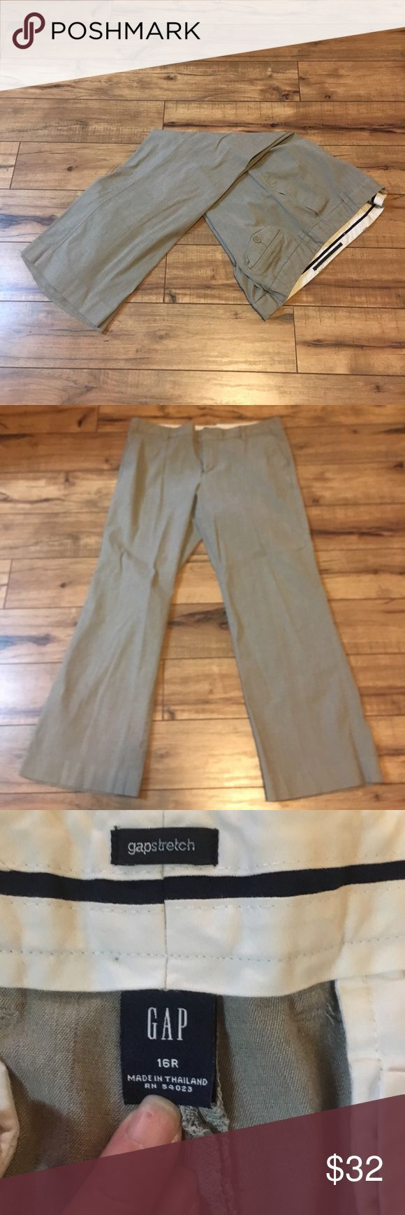 Women's gap trousers tan size 16 Super cute trouser to wear to work luv them lost a lot of weight to big ;) GAP Pants Trousers