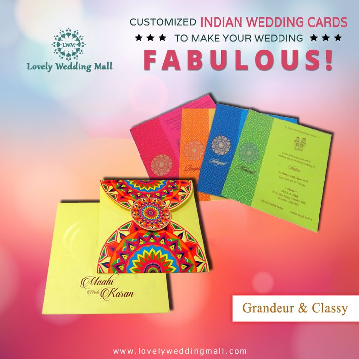 A grand wedding deserves an exquisite wedding invite as well! Lovely Wedding Mall is your one stop destination to buy Grandeur & Classy Indian Wedding Cards in #UK. Place your order online at www.lovelyweddingmall.com