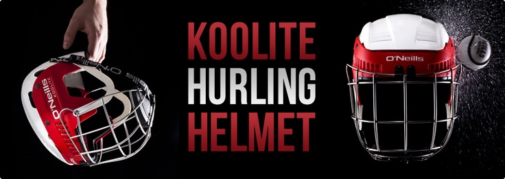 koolite hurling helmet, the latest in helmet technology, available in your club colours