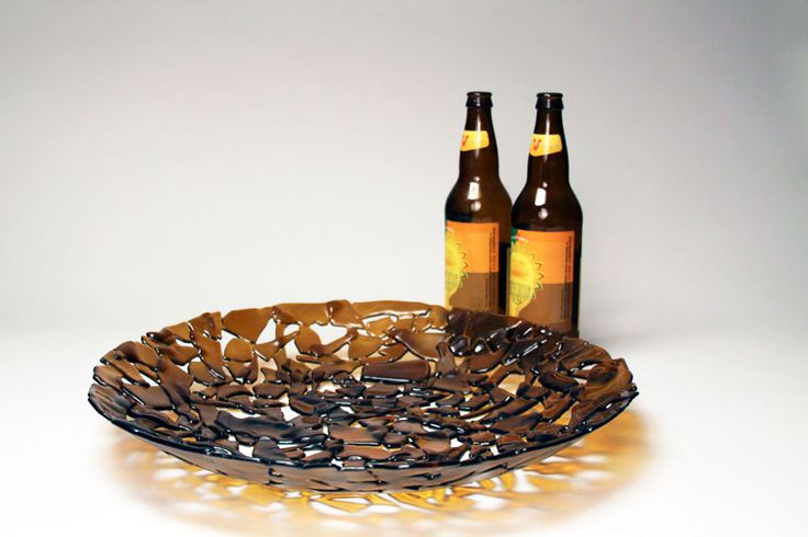 Recycled bottle dish - Free Glass!  I can't wait to make these!