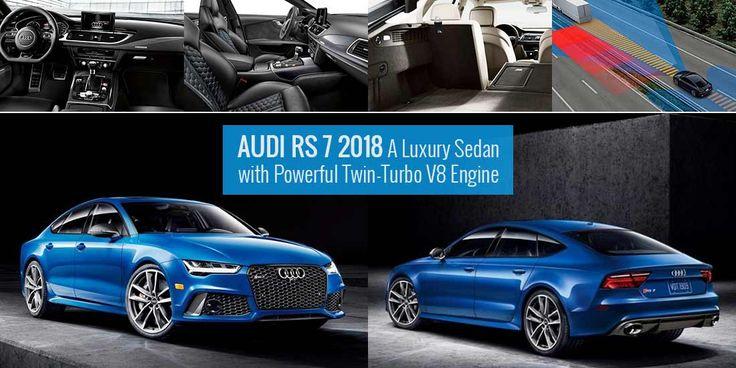 2018 #Audi RS 7 luxury sedan comes with an aerodynamic body and a powerful twin-turbo V8 engine. #UAE