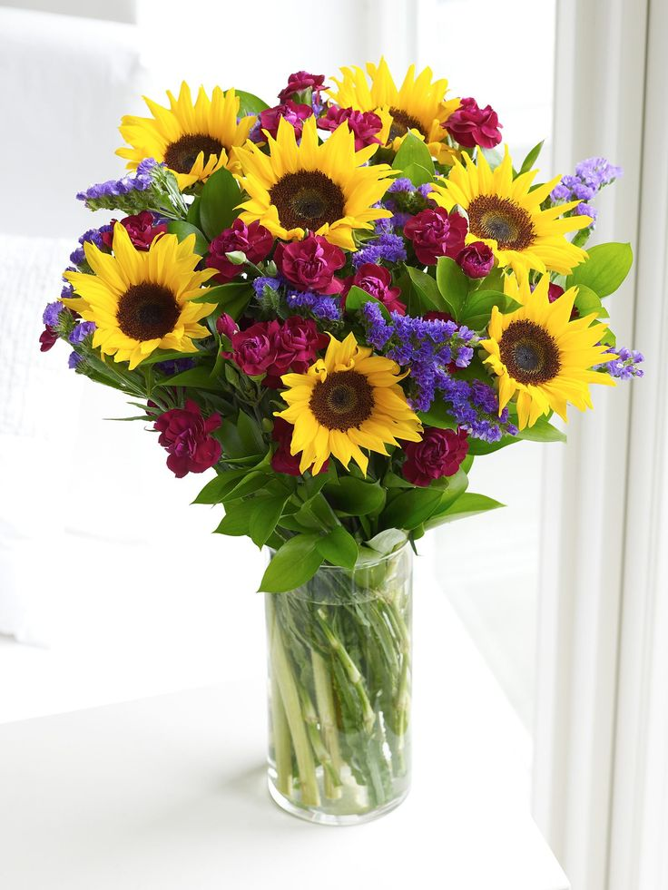 Mini sunflower hand tied interflora wedding