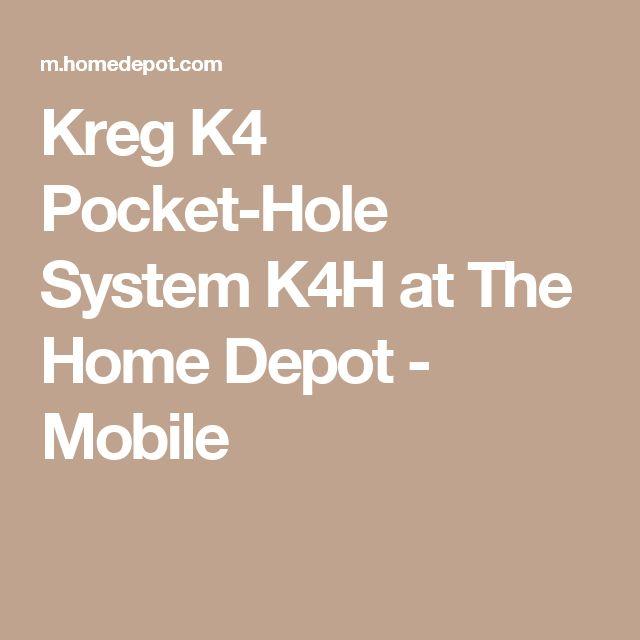 Kreg K4 Pocket-Hole System K4H at The Home Depot - Mobile