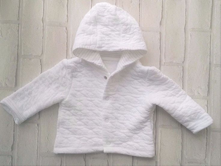 Mothercare Baby White Pram Coat With Hood  0-3 Months  #mothercare #Jacket
