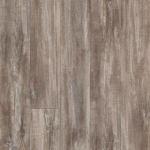 Seabrook Walnut semi gloss laminate floor. Grey walnut wood finish, 10mm 1-strip plank laminate flooring, easy to install and covered by PERGO's lifetime warranty.