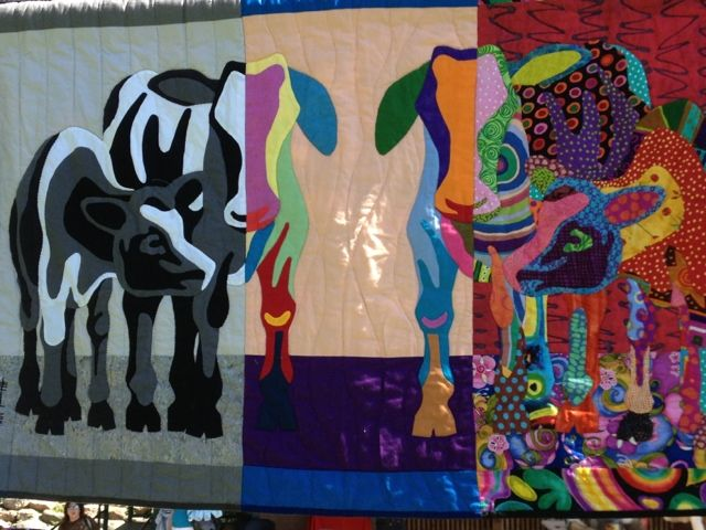 Mod Cow quilt - love the transition