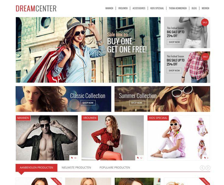 DREAMCENTER theme by SEOshop | ecommerce | design |  Webstore | webshop | retail |