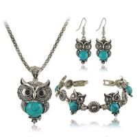 Owl Shape Decorated Simple Design Blue